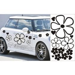 K085 Veľké kvety na auto